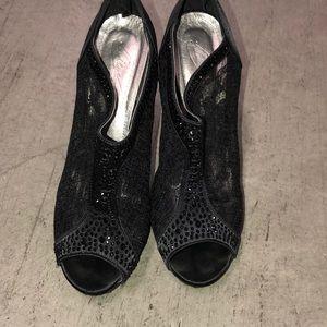 MichaelAngelo Studded Lace Heels